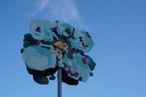 Public Sculptures by Ruskig Ångest seen at Bromma Stockholm Airport, Bromma - Familj