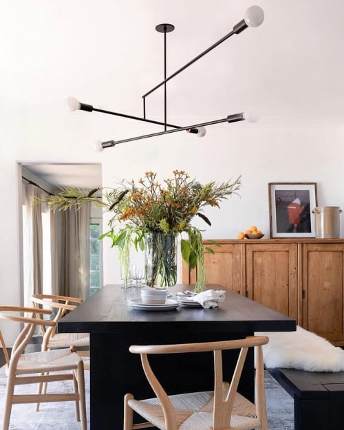 Pendants by LightForm seen at Private Residence, Los Angeles - Big Mobile Light