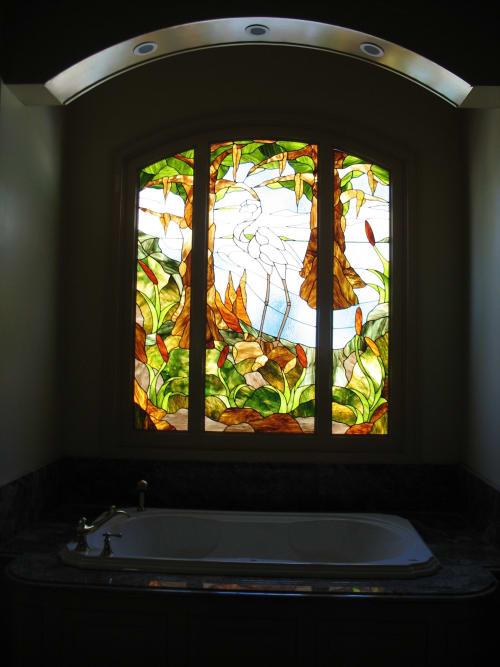 Heron Bath Window | Interior Design by Warren Simmons
