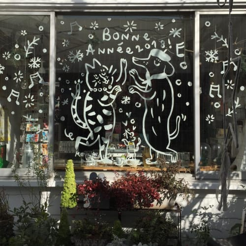 Murals by Marie Assénat Illustration seen at galerie doux dimanche, Shibuya City - Window Display Illustration