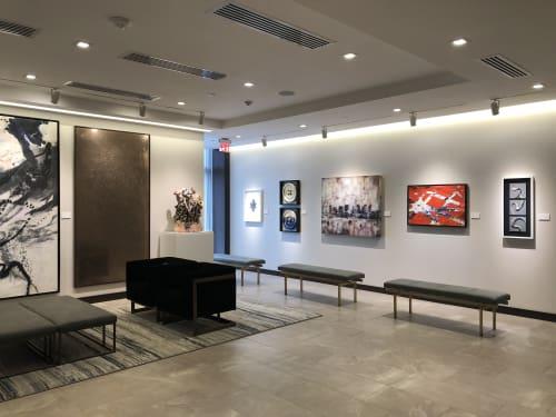 Paintings by morelorta_studio seen at 225 Albany St, Boston - Amanda Red at AC Hotel Boston Downtown