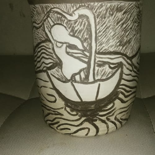 Cups by Aspire Arts seen at Private Residence - Girl in storm