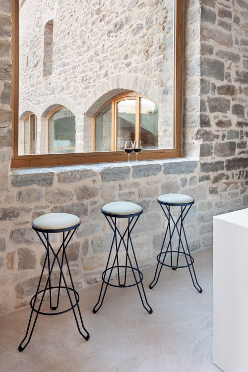 Chairs by iSiMAR seen at Blue Room, Tivat - Madrid Stools