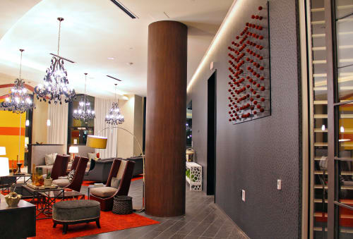 Sculptures by Organik Creative at The Kenzie at the Domain Apartments, Austin - Red Vine Balls