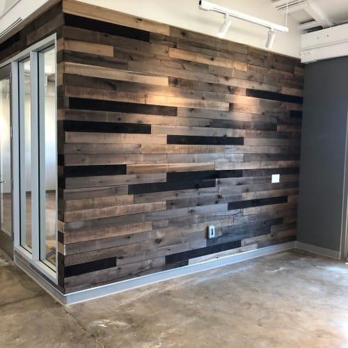 Wall Treatments by Island Reclaimed Wood seen at Harry & Jeanette Weinberg Hoʻokupu Center, Honolulu - Pallet Wood Walls