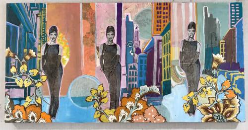 """Paintings by Marjolyn van der Hart - """"Elegance of Audrey"""""""
