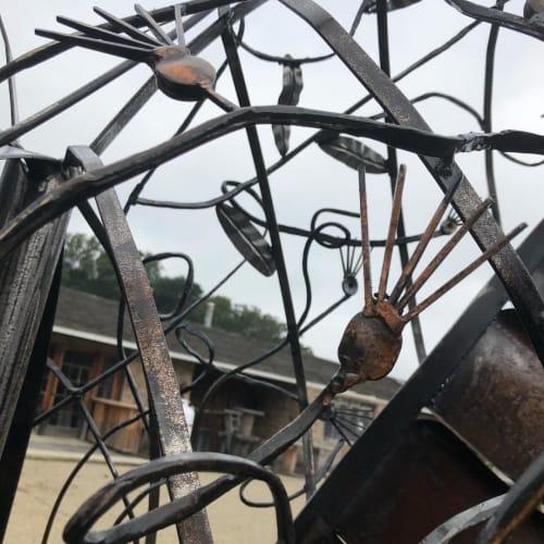 Public Sculptures by Lele Galer seen at Centreville Layton School, Wilmington - Heart Sculpture