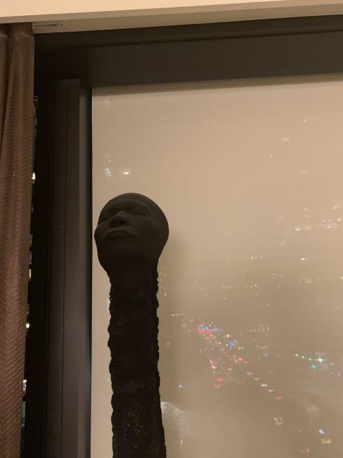 Sculptures by Wolfgang Stiller seen at Private Residence, New York - Matchstickmen