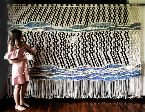 Macrame Wall Hanging by Ranran Design by Belen Senra seen at Nobu Hotel Ibiza Bay, Eivissa - Wall Art