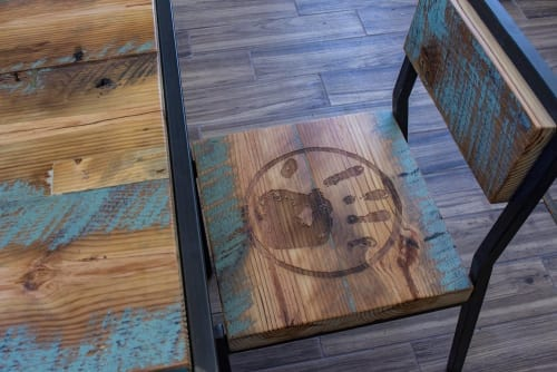 Signage by Kugo Laser LLC seen at Black Hand Coffee Company's Cafe Nostra, Richmond - Laser Engraved Signs