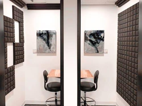Paintings by Nik Torres Designs seen at The Watershed Toronto Coworking, Toronto - Exploring Metallurgy I & II