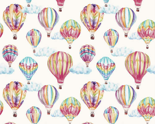 Curtains & Drapes by Katie Hipwell seen at Private Residence, London - Hot Air Balloons Multi Fabric