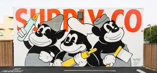 Street Murals by Jeff Meadows seen at San Jose, San Jose - Mural