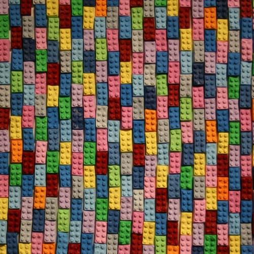 Paintings by Emeline Tate seen at Janssen Artspace, Palm Springs - Bricks