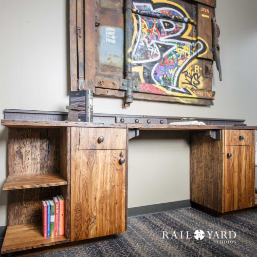 Tables by Rail Yard Studios seen at Houston, Houston - Office Credenza