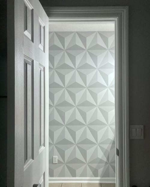 Murals by Morgan Summers seen at Private Residence, Lynn Haven - Interior Geometric Mural
