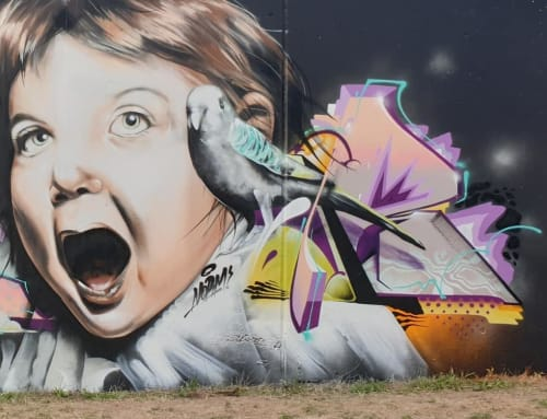 Street Murals by Semor the mad one seen at Cologne, Cologne - Wall with Normabartig