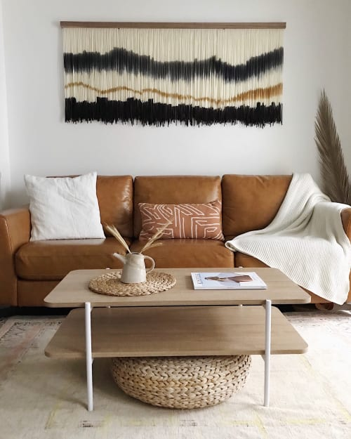 Wall Hangings by Kait Hurley Art seen at Private Residence, Los Angeles - Grey Skies