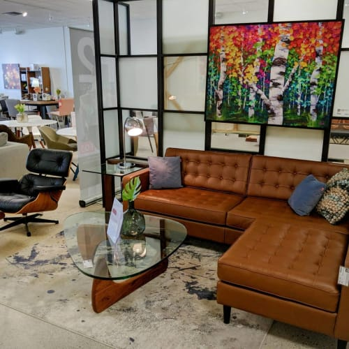 Paintings by Melissa McKinnon seen at F2 Furnishings Calgary, Calgary - Jungle Fever