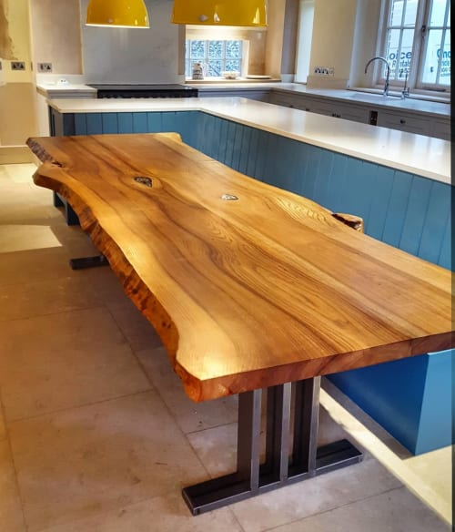 Tables by Handmade in Brighton seen at Private Residence - Sussex Elm Table