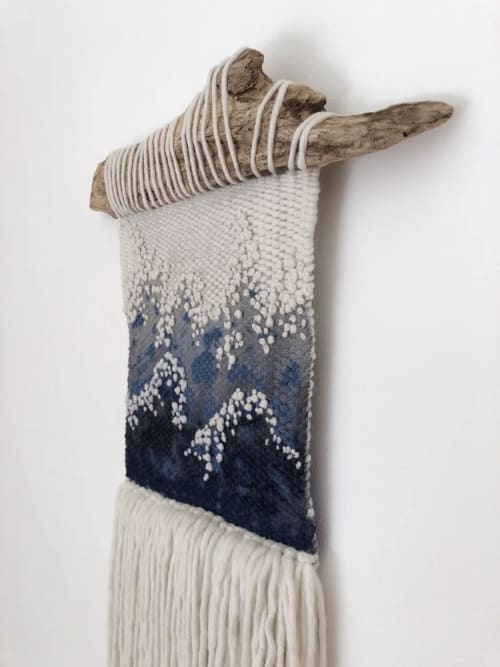 Macrame Wall Hanging by Elle Collins seen at Private Residence, Birmingham - Tonnow (wave) No.1