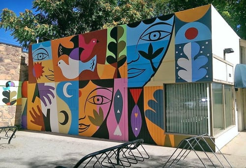 Street Murals by Rafael López Studio seen at 13th Street, Boulder - 13th & Arapahoe Mural