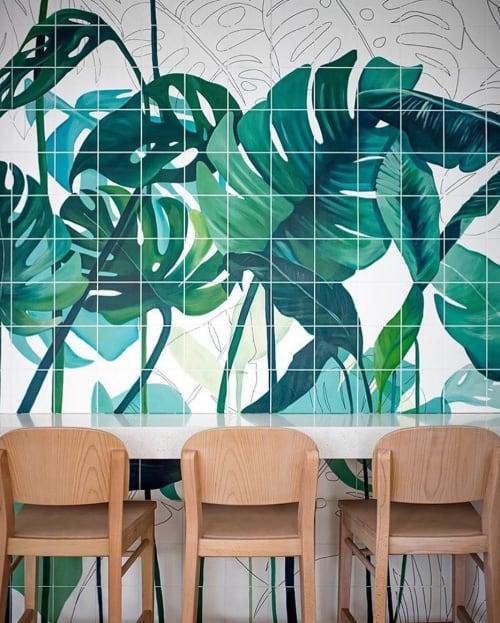 Murals by Eleni Pratsi seen at Nom, Nicosia - Hand-painted mural