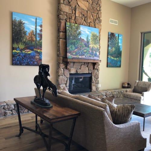 Paintings by Jennifer Vranes Fine Art seen at Private Residence, Scottsdale - Pinnacle Peak Dessert Painting