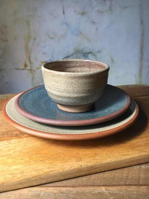 Ceramic Plates by Old Dog Pottery seen at Private Residence - Pottery Batter Bowl