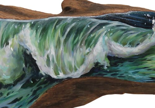 Paintings by Lindsey Millikan (Milli) seen at Creator's Studio, San Francisco - Ocean #12