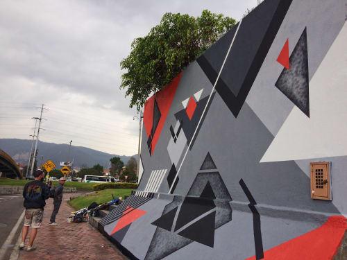 Street Murals by LAMKAT at Bagota Area, Bogotá - Bogota Graffiti & Friends