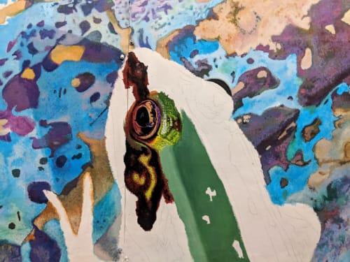 Murals by Hagopian Arts seen at University City Housing, Philadelphia - Amphibians