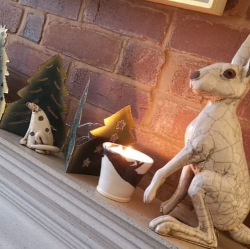 Tableware by Becci Davies (Shore Fired Pottery) seen at Private Residence, Bude - Candle Holder