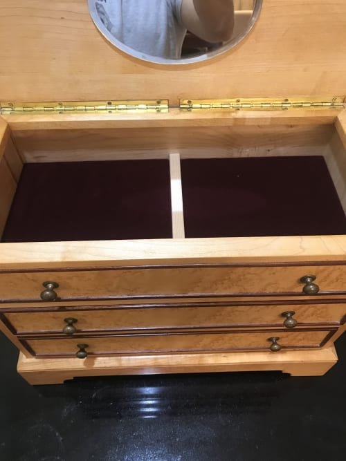 Furniture by Wolfkill Woodwork seen at Private Residence, Palm Beach - Jewelry Box