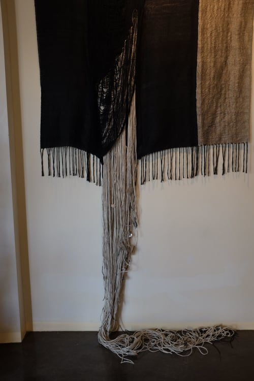 Wall Hangings by Rhiannon Griego seen at Four Seasons Resort Rancho Encantado Santa Fe, Santa Fe - Disintegration of Chords 2017.