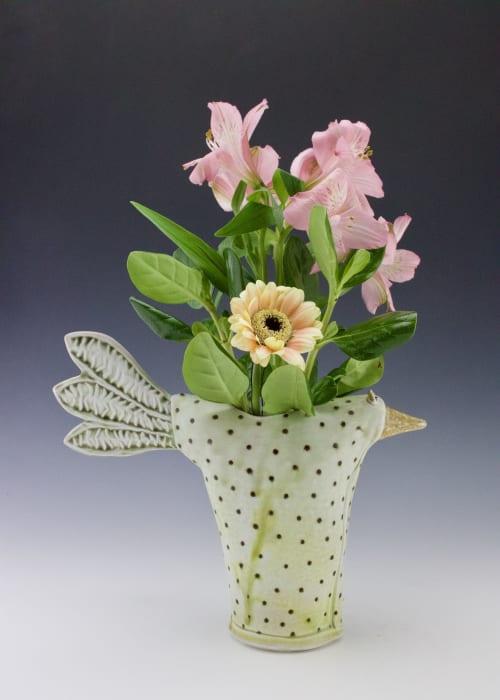 Vases & Vessels by Willi Eggerman Ceramics seen at Private Residence, Al Rideem - Bird Vase