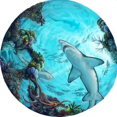 Murals by Kelly Quinn seen at The Florida Aquarium, Tampa - Ceiling Mural Store