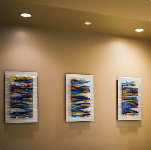 Art & Wall Decor by Cathy M Shepherd Glass seen at Mercy hospital, Chicago - Champagne Waves