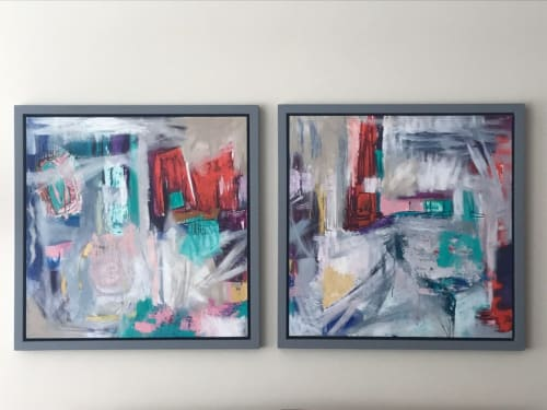 Paintings by Anelisa Calmet Studio seen at Private Residence, Lima - Whitsunday commission