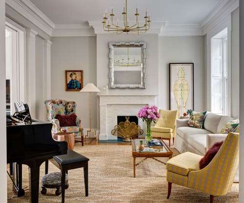 Interior Design by CWB Interiors seen at Private Residence, Brooklyn - Boerum Hill Greek Revival