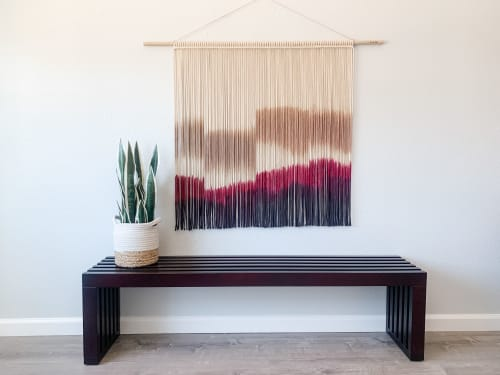 Macrame Wall Hanging by Love & Fiber seen at Creator's Studio, San Diego - Extra Large Hand Dyed Modern Macrame Wall Hanging
