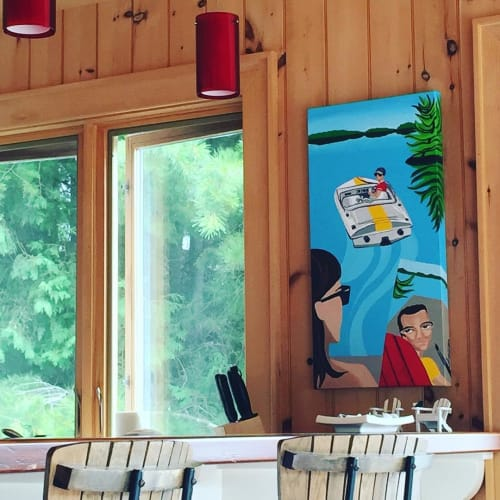 Paintings by Michelle Vella seen at Private Residence, Toronto - Muskoka mornings