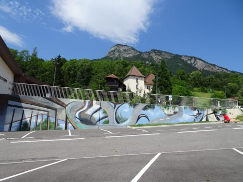 Murals by Laura9, Laura Tietjens seen at Route de la Mairie, Thyez - mural for municipality Thyez, France in 2019