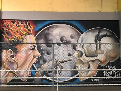 Street Murals by Albertus Joseph seen at Rincon, Rincon - Resistance
