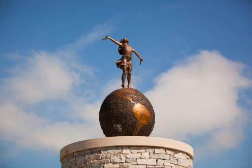 Public Sculptures by Angela Mia De la Vega Studios, Inc. seen at Neenah, Neenah - Joyful Empowerment