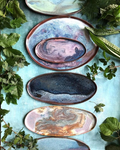 Tableware by Meadow  Ceramics seen at Private Residence, Tommerup - Unique stoneware platters