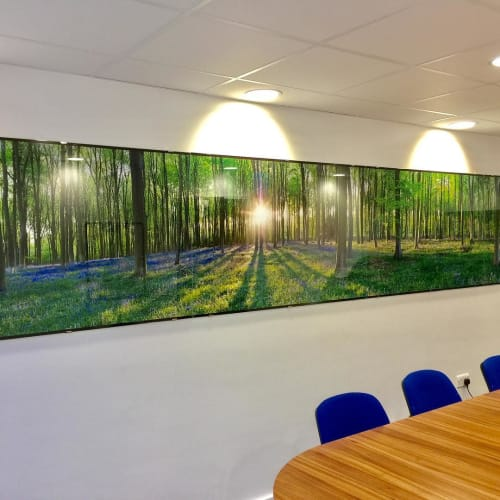 Wall Hangings by Richard Osbourne seen at BMI The Alexandra Hospital, Cheadle - Micheldever Wood Panoramic