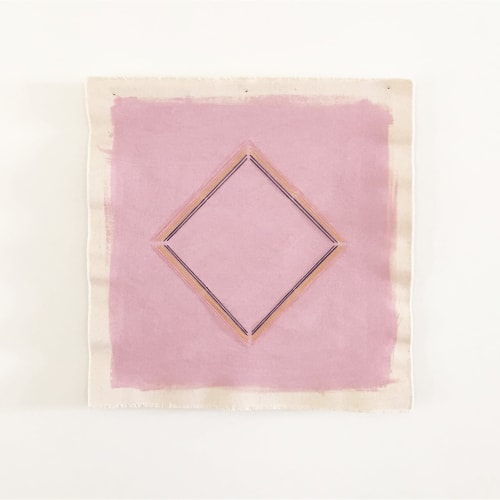 Paintings by Emily Keating Snyder seen at Los Angeles, Los Angeles - Mauve Diamond Embroidered Paintings