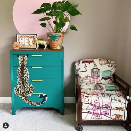 Art & Wall Decor by Hey Dottie seen at Private Residence, Bristol - HEY A4 on Leopard Print.
