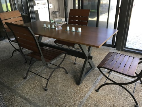 Tables by Jon Richey Woodworking seen at Private Residence, Brandon - Custom made Picnic Table